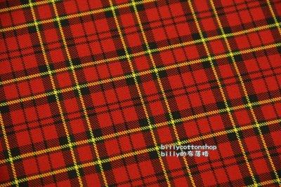 【V900_135 經典格 】半碼價 (厚布) 格紋學院風 蘇格蘭風 格子布 billy的布落格
