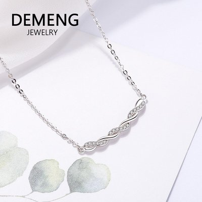【超優質】清新棉花S925純銀項鍊短款鎖骨鍊飾品簡約韓式韓版