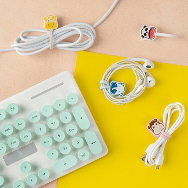可愛卡通PVC磁性扣環桌面整線器【庫奇小舖】【S436】