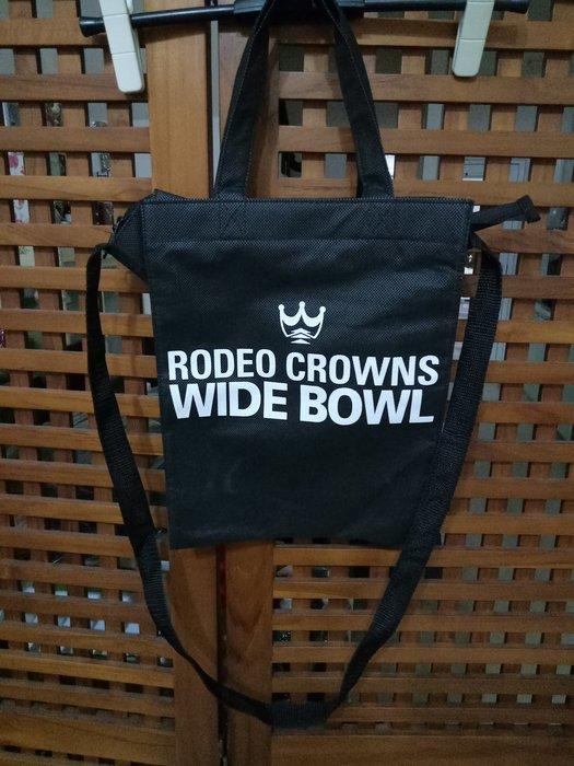 天使熊雜貨小舖~日本帶回 RODEO CROWNS 拉鍊手提/肩背兩用購物袋  全新現貨