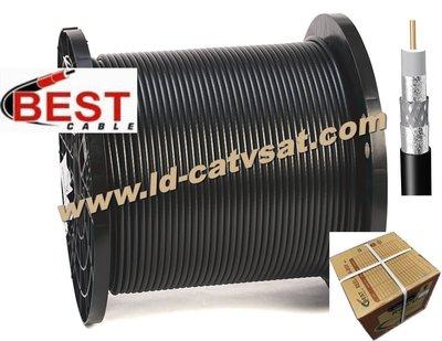 BEST RG6-T60F PVC 電視線CATV 5C2V同軸電纜線.有線電視.衛星.監視器.數位