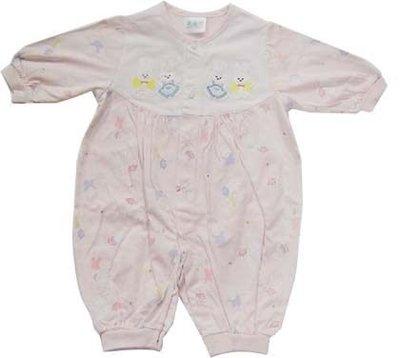 可愛寶貝---◎◎全新白兔繡花純棉兩用嬰兒服◎◎☆☆人氣商品☆☆
