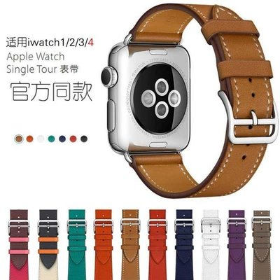 ZIHOPE 適用APPLE WATCH蘋果手錶帶真皮潮IWATCH1/2/3男女38/42MM愛瑪仕ZI812