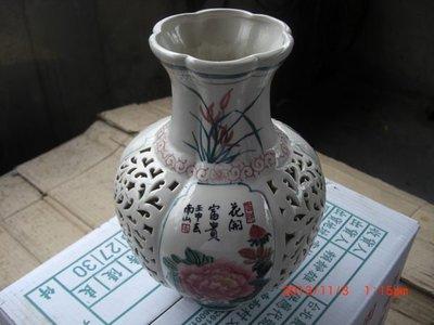 早期 中華藝術陶瓷 檯燈花瓶