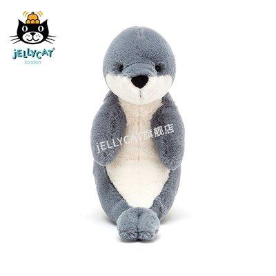 jellycat英國新品害羞海豹柔軟溫和安撫海洋毛絨玩具公仔玩偶