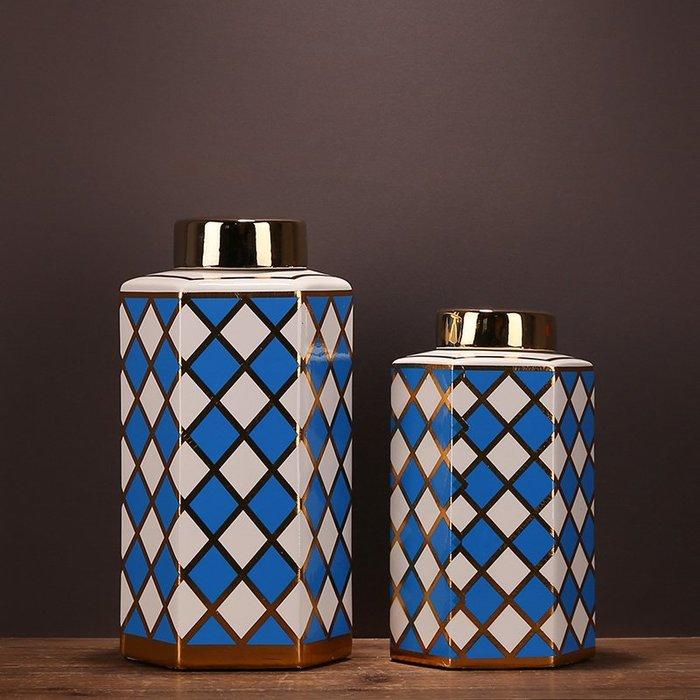 〖洋碼頭〗新古典中式復古家居裝飾品陶瓷儲物罐擺件陶瓷花瓶擺設客廳桌面 ysh426