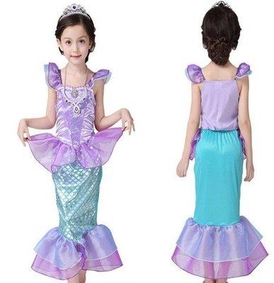 現貨+預購,新款美人魚服裝表演出服萬聖節公主裙蘇菲亞公主送皇冠