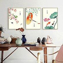 新中式簡約素雅民俗24節氣裝飾畫畫芯微噴打印餐廳客廳掛畫壁畫心(不含框)