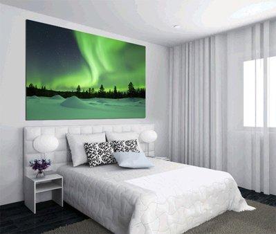 客製化壁貼 店面保障 編號F-159 北極光夜晚 壁紙 牆貼 牆紙 壁畫 星瑞 shing ruei