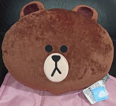 熊大 臉型 抱枕 靠枕 12吋 正版LINE FRIENDS