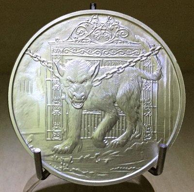 «自由銀»北歐生物- Hellhound Garm 地獄犬-加姆 銀幣 (1 toz)