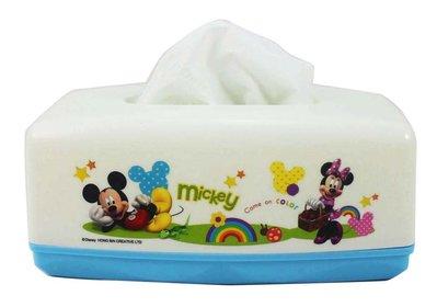 【卡漫迷】 米奇 面紙套 白配藍 ㊣版 面紙盒 桌上型 米老鼠 米奇妙妙屋 米妮 Mickey Minnie 台灣製