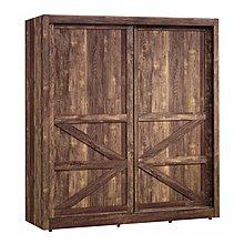 【DH】商品貨號D4-2商品名稱《班克》工業風6X7尺推門衣櫃(圖一)內附鏡子.台灣製可訂做