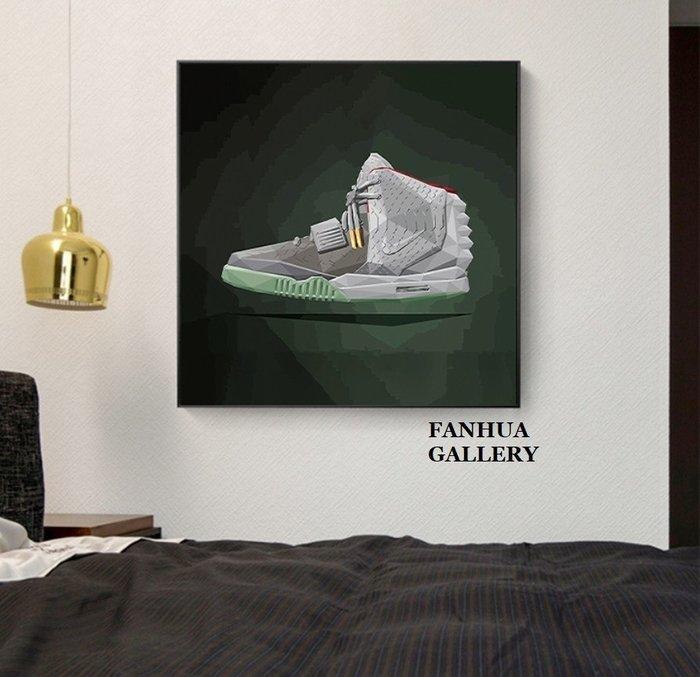 C - R - A - Z - Y - T - O - W - N kaws潮牌掛畫波普風裝飾畫卡通創意運動鞋方形裝飾畫