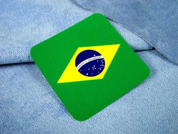 【國旗貼紙專賣店】巴西方形登機行李箱貼紙/抗UV防水/旅行箱/世界多國可收集訂製