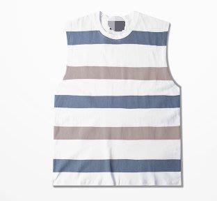 FINDSENSE H1夏季 新款 日本 個性  條紋背心  時尚  寬鬆 潮牌 情侶背心 打底 無袖T恤 潮男 女上衣