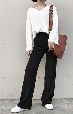 垂感闊腿褲女夏季薄款高腰拖地褲工裝西裝褲寬鬆顯瘦休閒直筒長褲