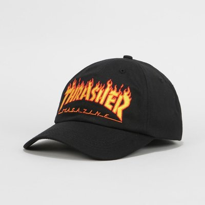 【 K.F.M 】THRASHER FLAME OLD TIMER HAT DAD CAP 火焰 老帽 彎帽