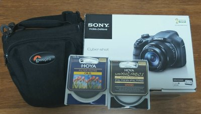 Sony DSC-HX300 with HOYA filters and Camera Bag