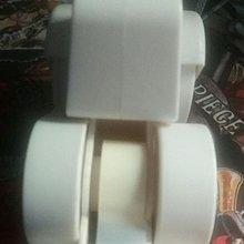 白色壓土機造型膠紙座【多送一卷膠紙/145*100*65毫米】