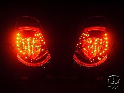 《※台灣之光※》全新BMW寶馬MINI COOPER R56 11 12 13年改英國旗LED光柱光條黑底尾燈組