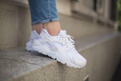【豬豬老闆】Nike Air Huarache Run【 預購】經典 全白 黑武士 (中童)女鞋 654275 110