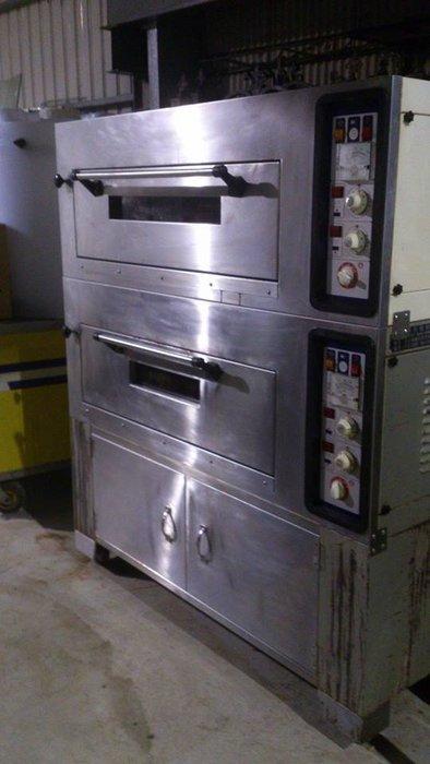 ㊖華威搬家=更新二手倉庫㊖烘培西點烤爐丙級電烤箱 麵包 烤箱手工餅乾蛋塔蛋糕專業上下爐火雙爐