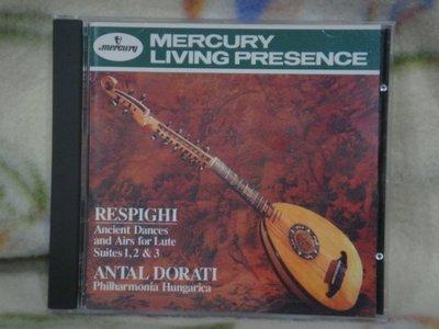 Antal Dorati cd=Respighi.Ancient Dances & Airs (1992年發行,銀圈版)