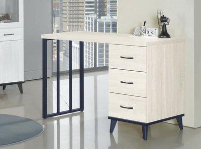 【浪漫滿屋家具】(Gp)558-6 鋼刷白4尺組合書桌