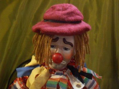 紅蘿蔔工作坊/工主個人收藏娃割愛~陶瓷娃娃~憂傷小丑PARRY帕里(f.b