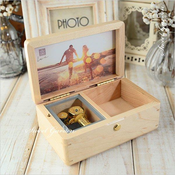Sweet Garden, 楓木相框首飾音樂盒(可選曲) 含暫停器 置物格 可代裝相片 生日禮物 免費包裝 台中音樂青蛙