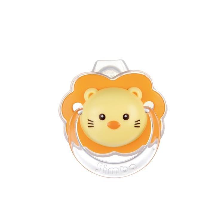 臺灣產小獅王辛巴嬰兒安撫奶嘴0-6-18個月寶寶安睡型矽膠帶防塵蓋CXZJ