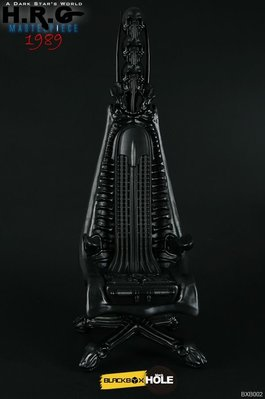 BLACKBOX x BLACKHOLE - 1:6 HR Giger 1989 Designer Chair Black Color/黑色 (BXB002A)