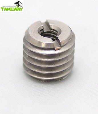 又敗家台灣製造Takeway不銹鋼轉接螺絲轉接環1/4→5/8兩分轉五分螺絲 1/4 -5/8 1/4-5/8細牙變粗牙2分轉5分 1/4吋轉5/8吋雷射水平儀
