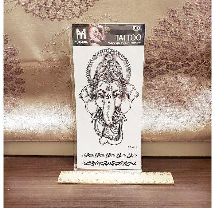 【萌古屋】象神圖騰 - 男女防水紋身貼紙原宿刺青貼紙FF-015 K19