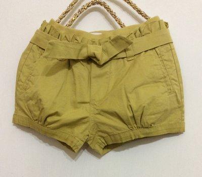 媽媽咪呀~Mamma Mia韓國童裝!過季零碼出清!黃色造型綁帶 彈性布短褲