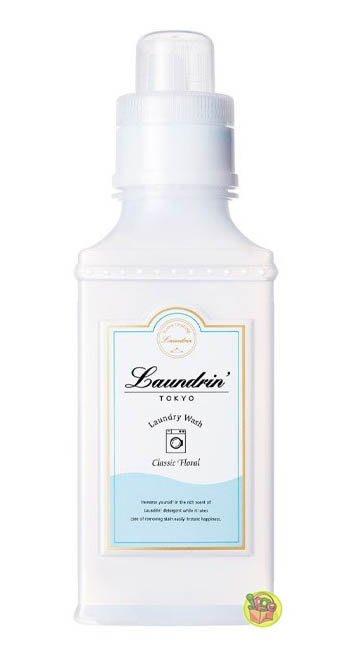 【JPGO】日本製 Laundrin' 濃縮洗衣精 嬰兒衣物可用 410g~經典花香 #782
