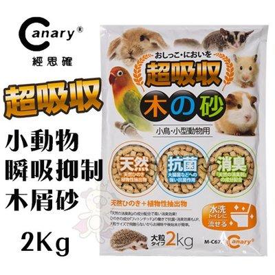 *WANG*Canary經思確 小動物天然木木屑砂2kg.寵物兔適用.兔木屑砂