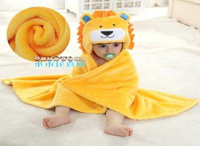 小市民倉庫-法蘭絨-帶帽立體動物造型抱被-寶寶造型毯-寶寶卡通造型外出蓋毯-幼兒空調被-新生兒包巾-浴巾-13款可選