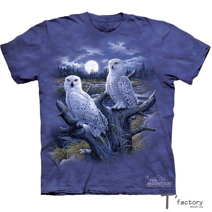 【線上體育】The Mountain 短袖T恤 雪地貓頭鷹 S號