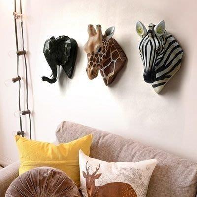 掛飾 壁掛 擺件-3D立體野生動物創意居家擺飾用品3款73a26[獨家進口][巴黎精品]