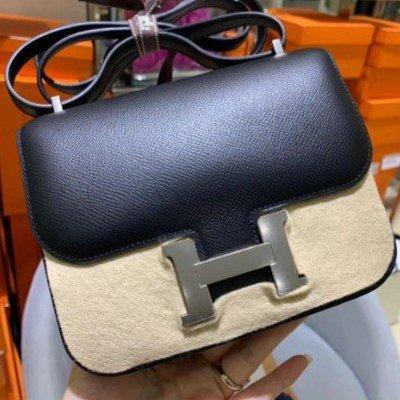 【MM二手正品】Hermes愛瑪仕 mini 19cm Constance 康康包 黑色 H扣 單肩 斜挎 盒子包 豆腐
