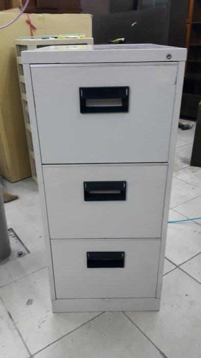 樂居二手家具*C1127AJJ 三大抽卡片箱*鐵櫃 資料櫃 理想櫃 3抽鐵櫃 文件櫃 二手辦公家具買賣/OA桌椅/會議桌