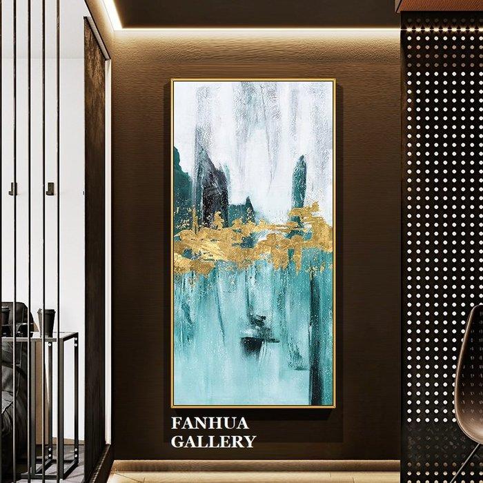 C - R - A - Z - Y - T - O - W - N 純手繪立體筆觸油畫金濤拍岸抽象藝術掛畫豎款手繪裝飾畫商空美學空間設計師款高檔手繪油畫收藏掛畫