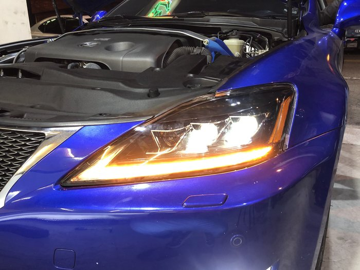 合豐源車燈 IS250 大燈 頭燈 LED 導光 跑馬方向燈 06 07 08 09 10 11 12 魚眼透鏡日行燈