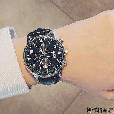 新款男生手表防水潮流時尚韓版簡約休閑學生男表非機械石英表