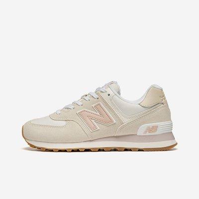 南◇2021 4月 New Balance NB 時尚 復古 麂皮 慢跑鞋 WL574nr2 米白 粉紅色 574 皮標