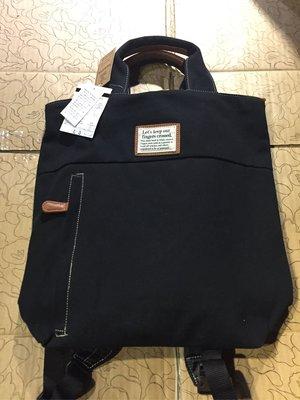 [變身館日本服飾]~SPRUCE~後背包~書包~手提包~黑~可手提~可後背~日本購入~全新商品~現品~~出清價