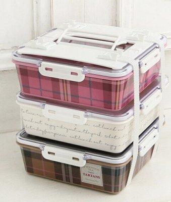 ⭐️日本製⭐️格紋 男女適用  Afternoon Tea 野餐盒 便當盒 3層 大 新北市