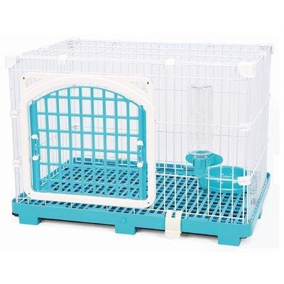 【優比寵物】豪華日式快扣型寵物籠609-M/狗籠/貓籠/兔籠/(附飲水器/食皿) 台灣製造 -優惠價-